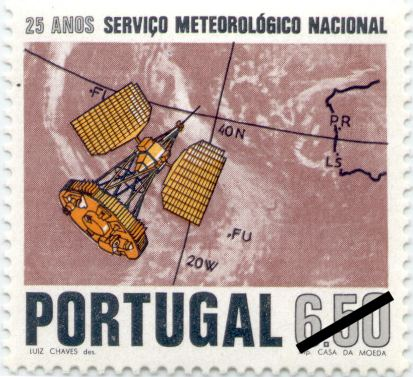 Portugal, 1971, 25 Years Meteorological Service sc1115, mi1148, sg1434