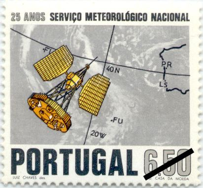 Color Variation Portugal, 1971, 25 Years Meteorological Service sc1115, mi1148, sg1434
