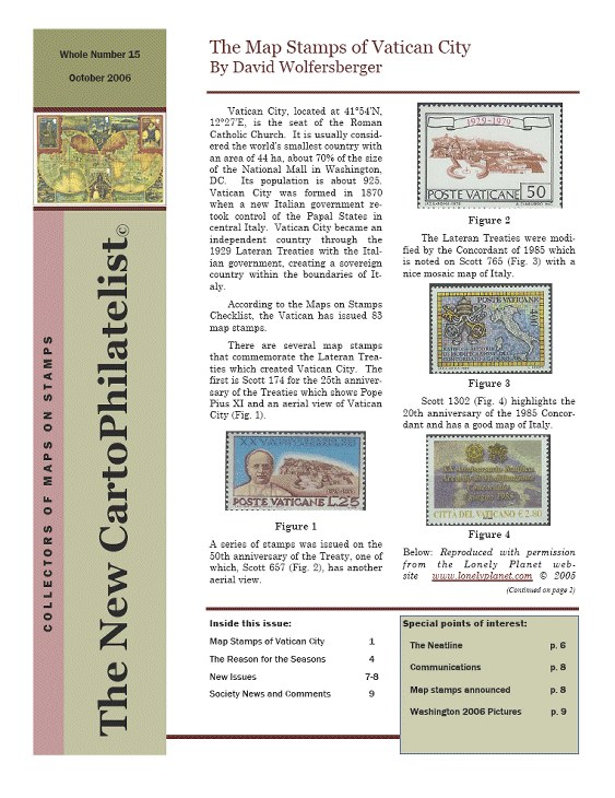 New Carto Philatelist Number 15 October 2006 Cover