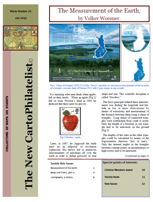 New Carto Philatelist Number 34 July 2011 Cover