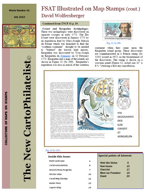 New Carto Philatelist Number 42 July 2013 Cover