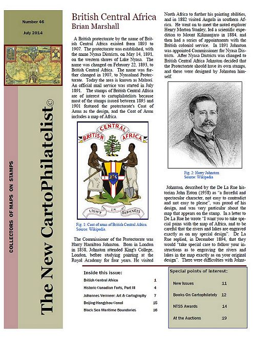 New Carto Philatelist Number 46 July 2014 Cover