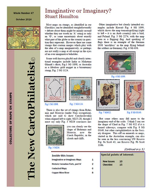 New Carto Philatelist Number 47 October 2014 Cover
