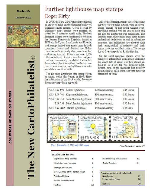 New Carto Philatelist Number 55 October 2016 Cover